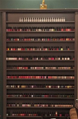 a whole wall of colors and not just from one brand...sweet!