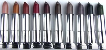 group of maybeline matte metallics lipsticks