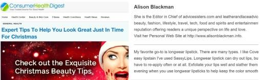 alison blackmam consumer health digest experts beauty tips.logo