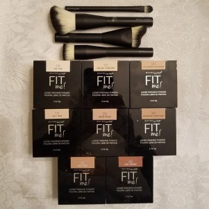 makeup brushes and maybelline Fit ME! Loose Finishing Powder group