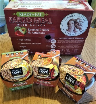 Cucina & Amore ready to eat farro and quinoa meals