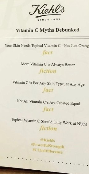 facts about Vitamin c in skincare