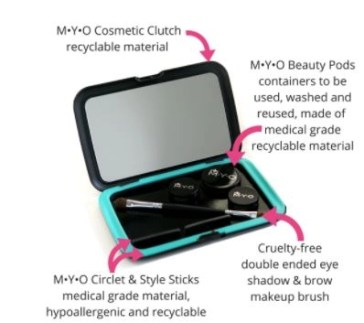 myo cosmetic clutch features