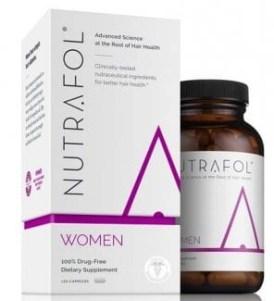 pill beauty nutrafol for women pills in a bottle with box