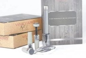 the Perfect wine opener set in silver
