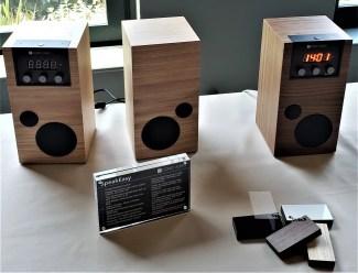 prototype display of speakers como audio speakEasy at NOMAd Hotel nyc