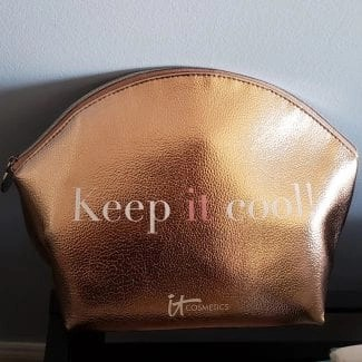 keep it cool it cosmetics makeup bag products are inside