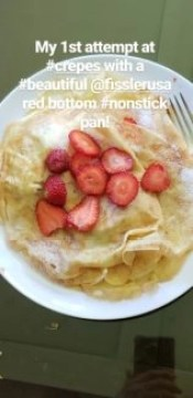 I was excited to show my first crepes on Instagram @alisonblackman
