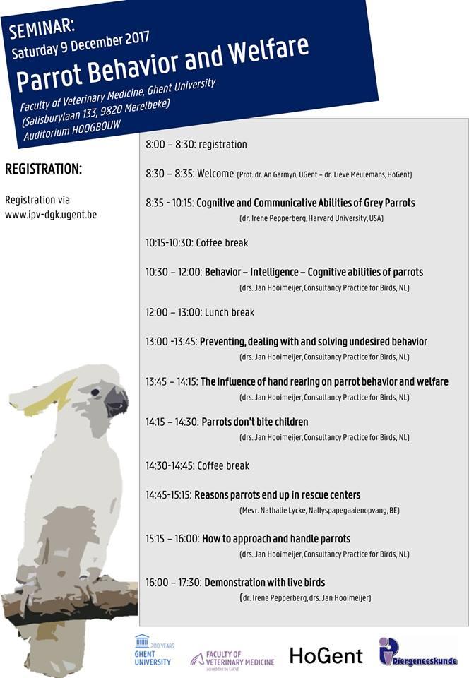 Parrot Behavior and Welfare, UGent