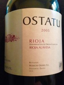 Ostatu Rioja label