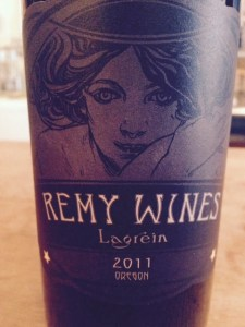 Remy Wines Lagrein wine label