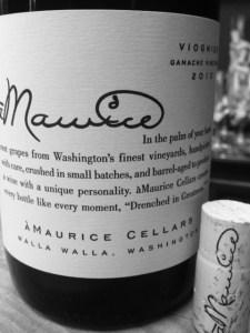 aMaurice Viognier Label & Cork