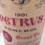 1981 Chateau Petrus