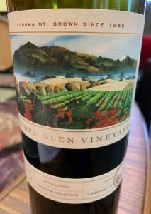 Sonoma mountain wine
