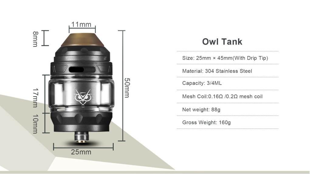 Advken Owl Tank Parameter