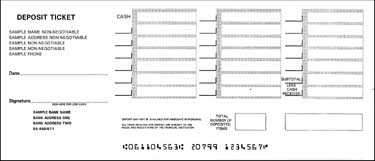 photograph regarding Quickbooks Printable Deposit Slips known as Deposit Slip Template. simplest images of keep an eye on deposit slip
