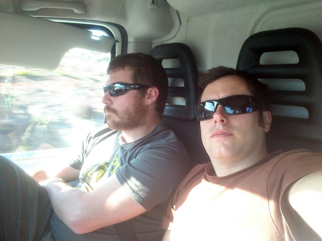 Jorge y Jaime de camino a Tarifa.