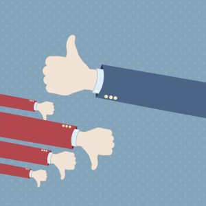 Thumb up hand win vector background