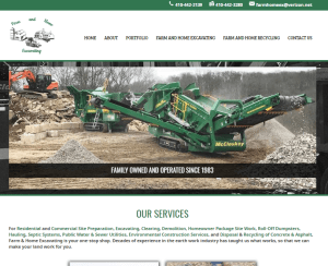New Website Launch: Farm & Home Excavating, Inc.
