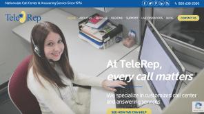 New Website Launch: TeleRep Call Center