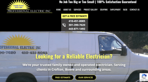 Adventure Web is thrilled to welcome one of our newest clients to the family: Professional Electric!