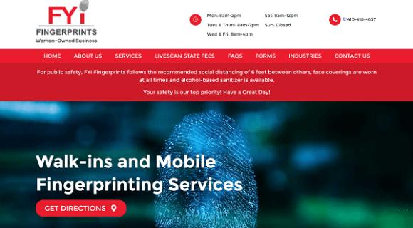 Website Launch: FYI Fingerprints