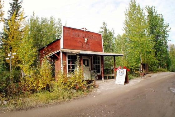 McCarthy General Store Alaska motorcycle trip
