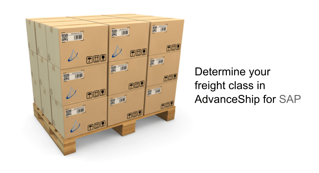Determine your freight class in AdvanceShip for SAP