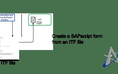 Create an SAPscript form from an ITF file