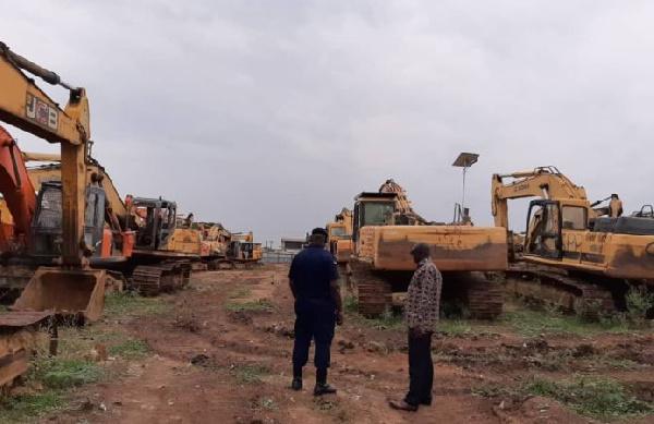 Galamsey excavators