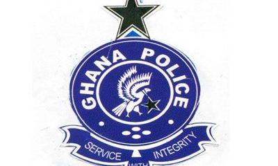CCTV captures policeman stealing coins at a bank in Ajumako Enyan. 2