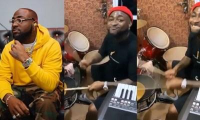 Video: Davido Displays Drumming Skills During Praises And Worship Session In Church. 35