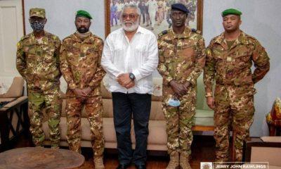 Rawlings receives Malian coup makers 5