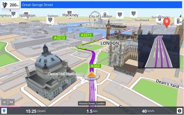 Sygic: GPS Navigation Aplikasi GPS Penunjuk