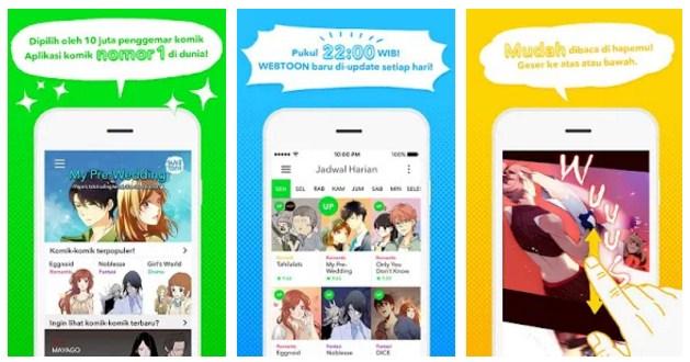 Aplikasi Komik Gratis Setiap Hari di Android