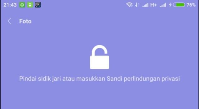 Cara Mengganti Pola Album Tersembunyi di Xiaomi