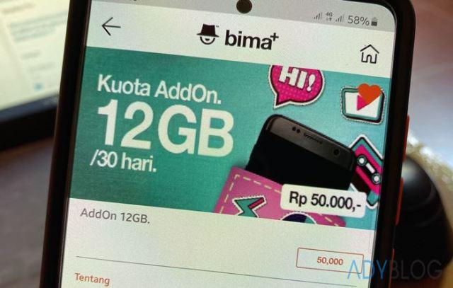 Beli Paket Tri AddOn 12 GB Cuma Rp 49 Ribu