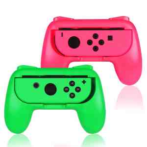 pink green nintendo switch joy con grip comfort handles