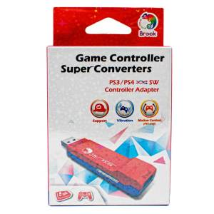 Brook PS3 and PS4 Controller to Switch Super Converter RED/BLUE