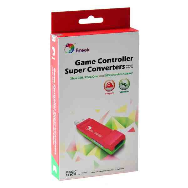 Brook XBOX 360 / ONE Controller to Switch Super Converter RED/GREEN