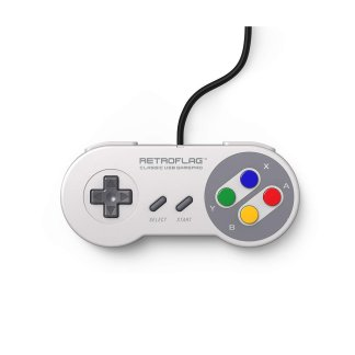 retroflag superpi jpad wired usb super nintendo classic gamepad for rspbarry pi