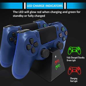 adz compact ps4 controller charger charging dock station