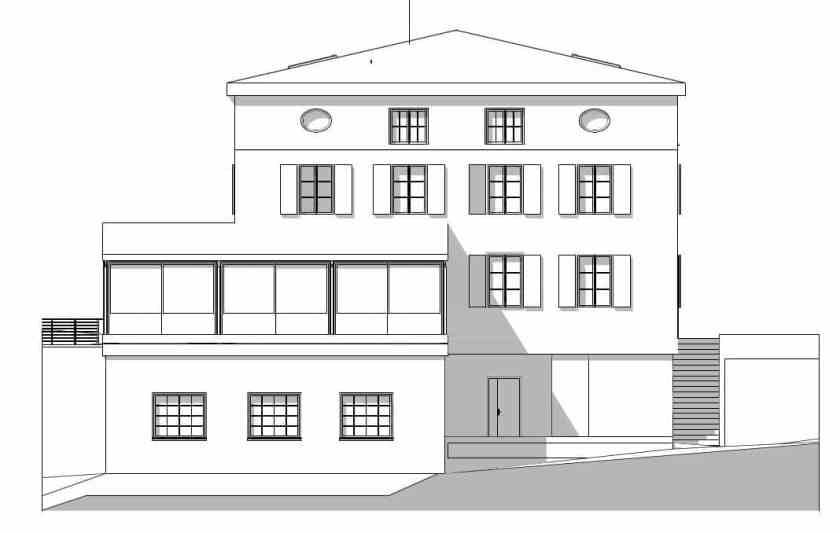 Maison de maître, façade