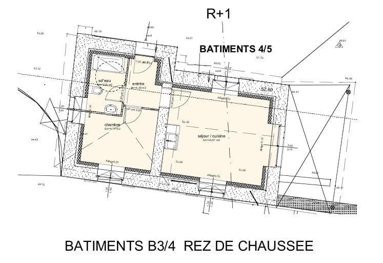 Batiments 3 et 4, rez-de-chaussée