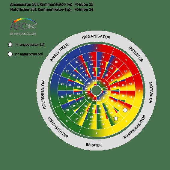 Darstellung von Persönlichkeitsanalysen und Test