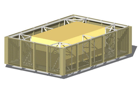 News Louvered Roof Equipment Screens From