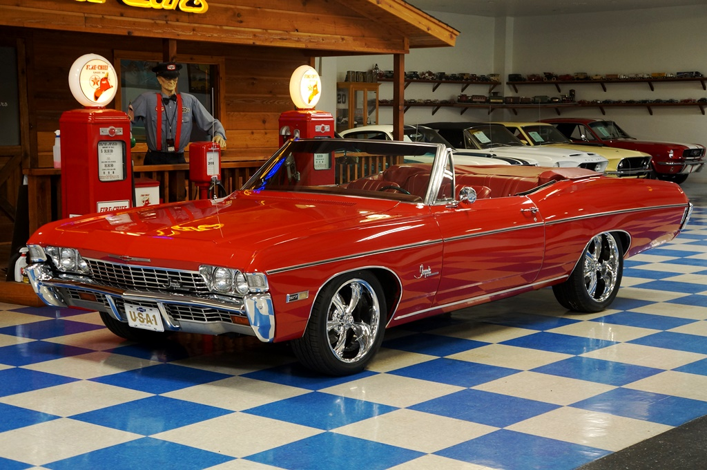 1968 Chevrolet Impala Convertible LS Resto Mod     Red   White     A E     1968 Chevrolet Impala Convertible LS Resto Mod     Red   White full