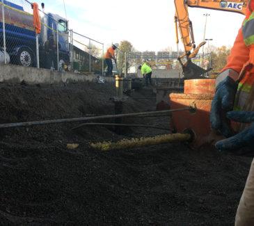 Jubitz Truck Stop Upgrade - Hard at Work