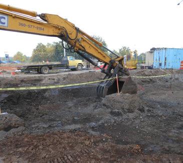 Johnson Creek Restoration - AEC Rig Doing Work