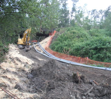 Starting the Access Road
